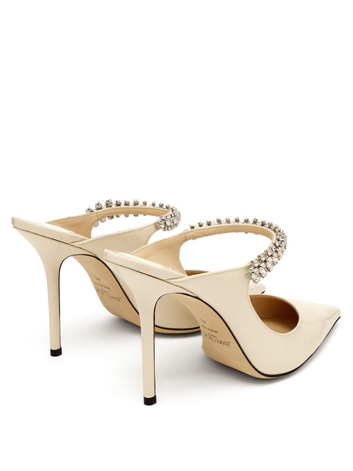 86d86962759 ... crystal-embellished arch strap; High stiletto heel; Beige leather  lining and sole; Fits true to size