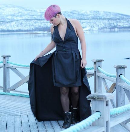 På denne kjolen ville jeg at alle detalj