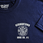 Fire Department Front - Metallic Silver Ink