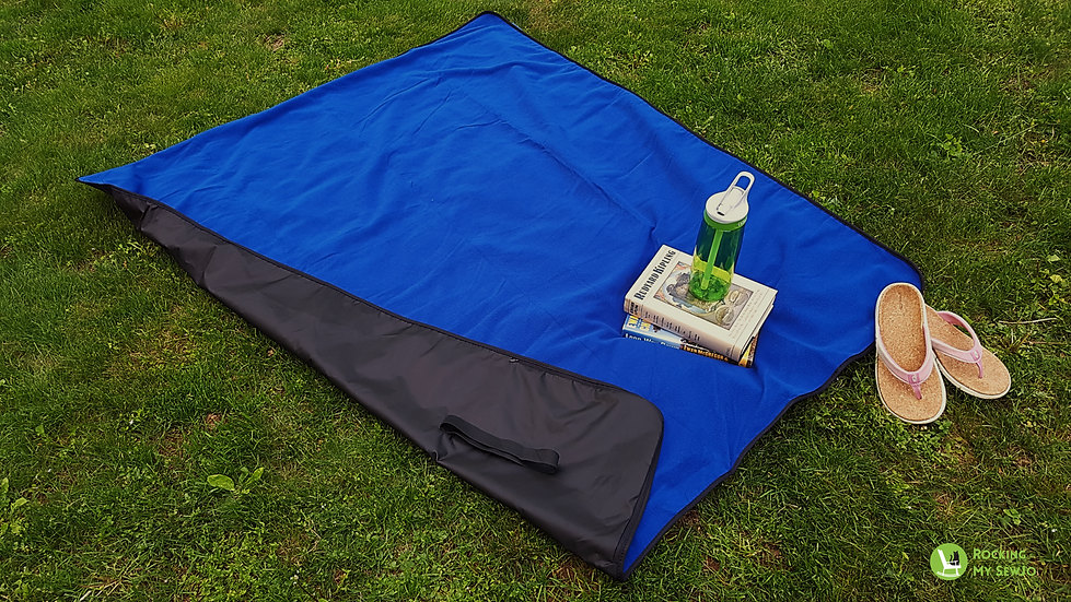 Travel Blanket with Water-Resistant Backing