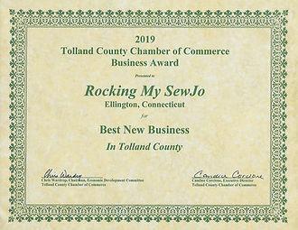 2019 TCCC Best New Business Award