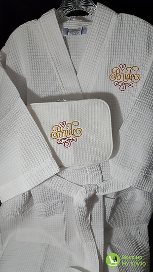 Bride Robe and Cosmetic Case Set