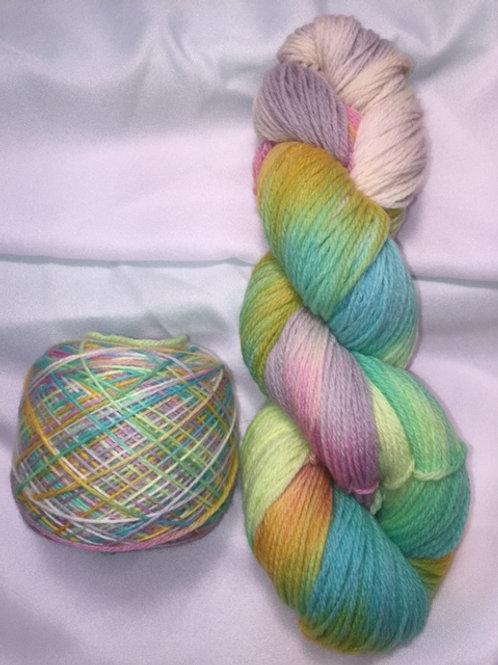 Rainbow Sherbet Sport Weight Hand Dyed Superwash Merino