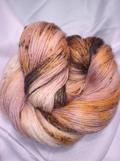 Mocha Creme Sock Weight Hand Dyed Superwash Merino and Nylon
