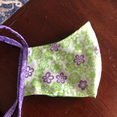 Purple and Green Posies - Adult Cup Style