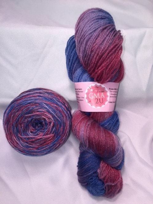 Sweet Memories of Tarts Sock Weight Hand Dyed Superwash Merino and Nylon