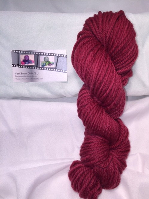 Patriotic Red Hand Dyed Super Wash Merino Bulky