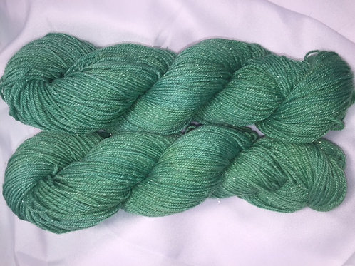Emerald City Fingering Weight Hand Dyed Merino/Silk/Nylon/Silver