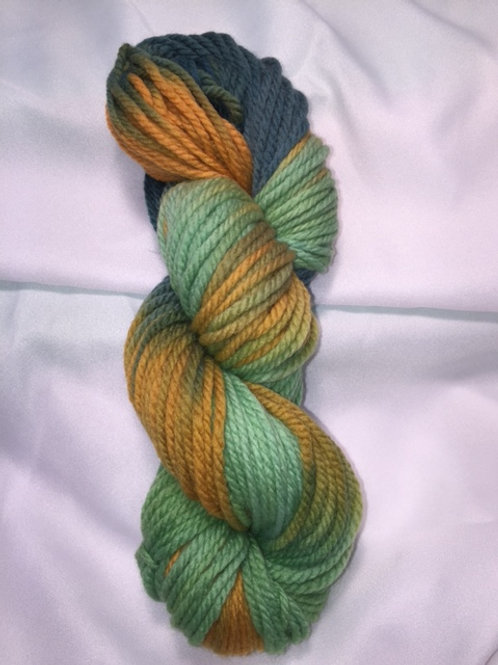 Harvested Squash Hand Dyed Super Wash Merino Bulky