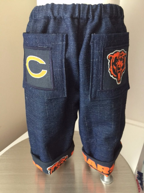 Chicago Bears Cuffed Jeans - 3 Mo