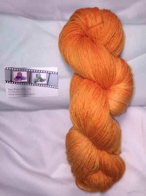 Peach Sorbet Sock Weight Hand Dyed Superwash Merino and Nylon