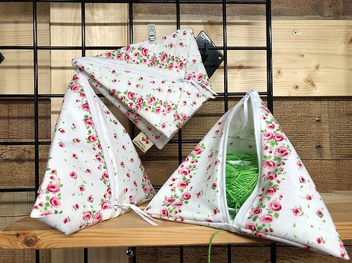 Pyramid Project Bag - Blooming Roses