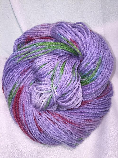 Blooming Clemantis - Hand Dyed Worsted Weight Superwash Merino