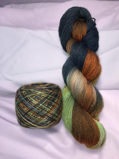 Harvested Squash Sock Weight Hand Dyed Superwash Merino and Nylon