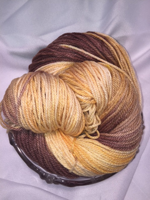 Sunflowers - Worsted, Hand Dyed Merino/Silk Blend