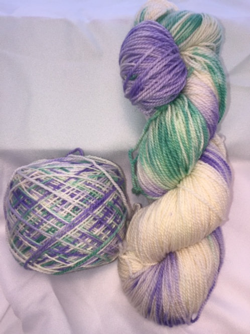 African Violet Sock Weight Hand Dyed Superwash Merino