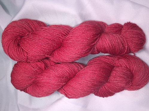 Cardinal Fingering Weight Hand Dyed Merino/Silk/Nylon/Silver
