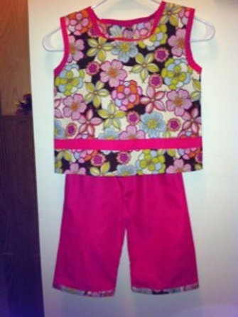 Flower Power Capri Set