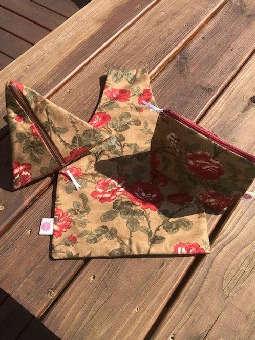 Rustic Rose Project Bag Trio