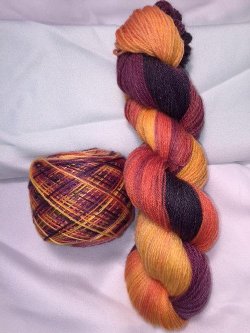 Iris Nebula Sock Weight Hand Dyed Superwash Merino and Nylon
