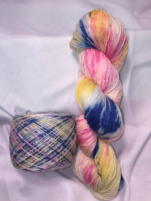 State Fair Taffy Sock Weight Hand Dyed Superwash Merino and Nylon