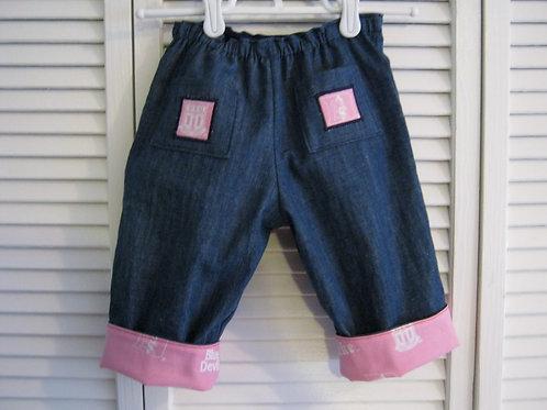 Duke in Pink Cuffed Jeans