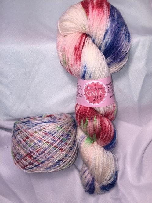 Confetti Sock Weight Hand Dyed Superwash Merino and Nylon