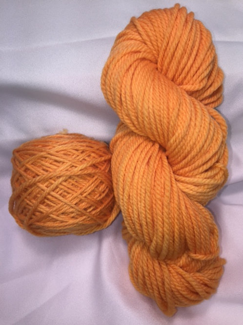 Pumpkin Hand Dyed Super Wash Merino Bulky