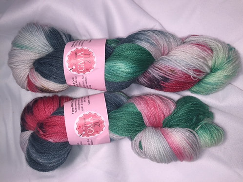 Ladybug Sock Weight Hand Dyed Superwash Merino and Nylon