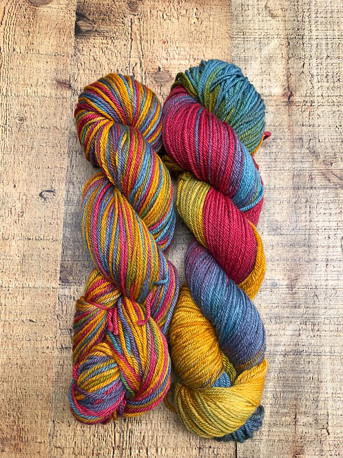 Serendipity- Worsted Hand Dyed Merino