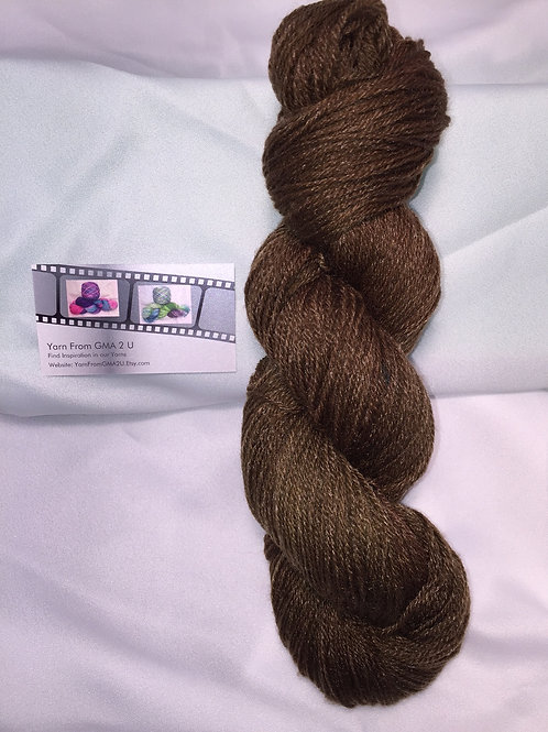 Chocolate Sock Weight Hand Dyed Superwash Merino and Nylon
