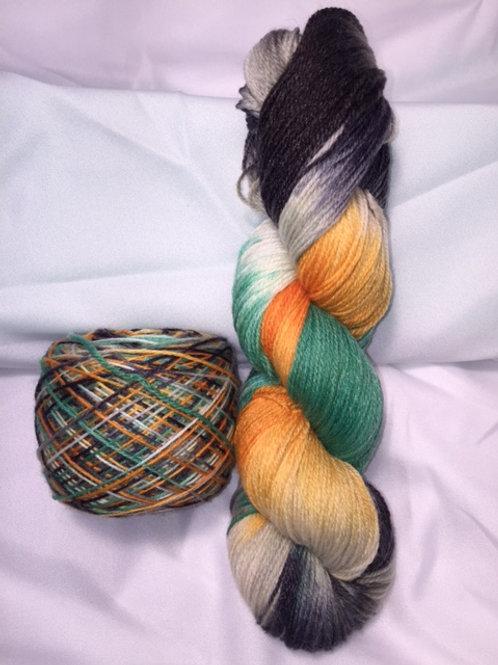 Haunted House Sock Weight Hand Dyed Superwash Merino and Nylon
