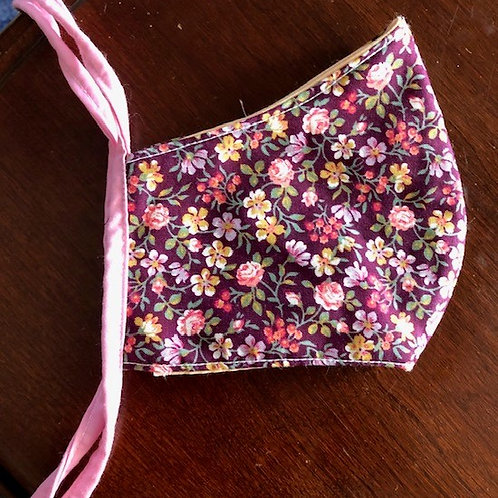 Burgundy Flower Garden - Adult Cup Style