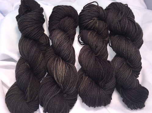 Dark Clouds - Hand Dyed Worsted Weight Superwash Merino