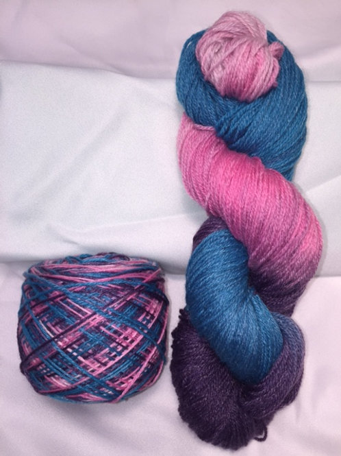 Cotton Candy Sock Weight Hand Dyed Superwash Merino and Nylon