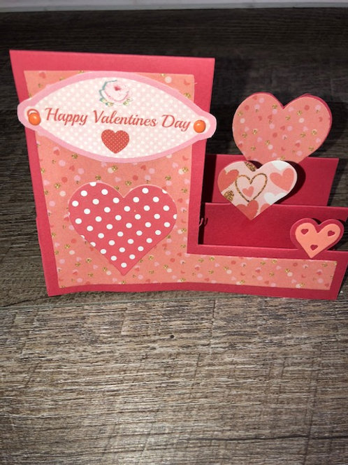 Happy Valentine's in Polka Dots Stand Up