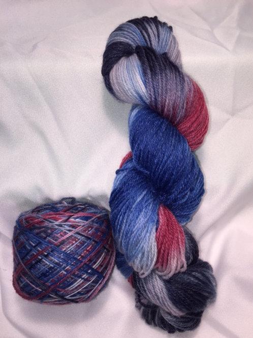 America Sock Weight Hand Dyed Superwash Merino and Nylon