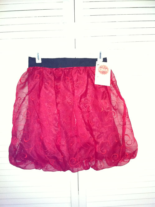 Holiday Red Shimmer Skirt