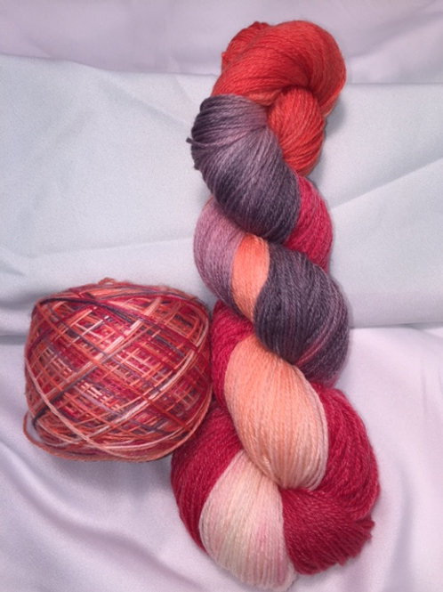 Lovestruck Sock Weight Hand Dyed Superwash Merino and Nylon