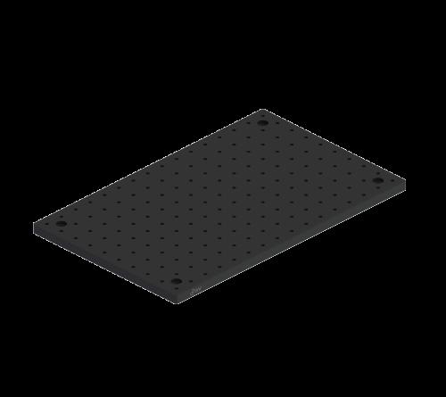 "Breadboard Solid Aluminum 10"" x 6"" x .500"" Thick"