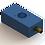 Thumbnail: 25mm x 50mm Flat Rectangular Air Bearing