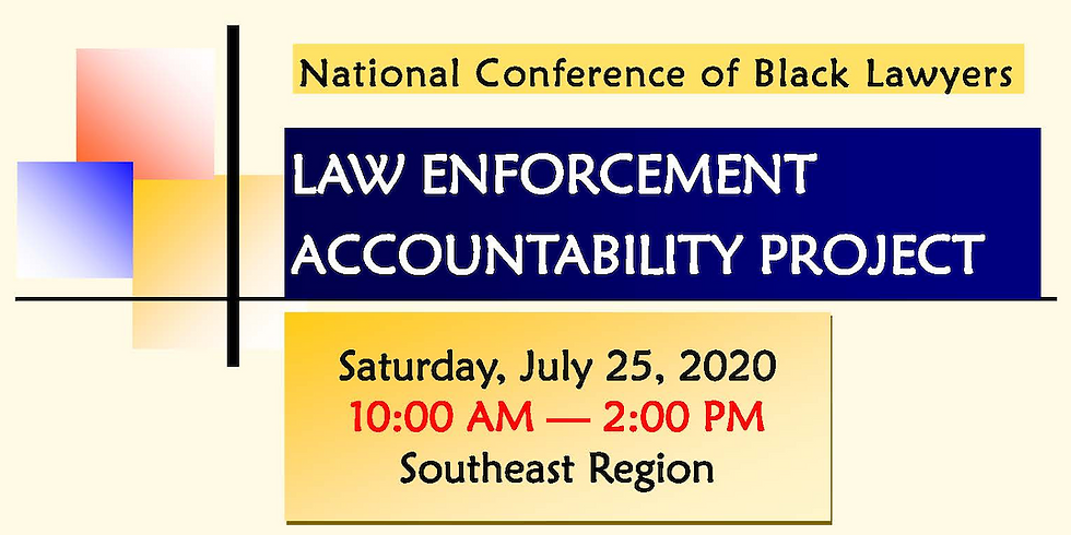 Law Enforcement Accountability Project CLE Master Series