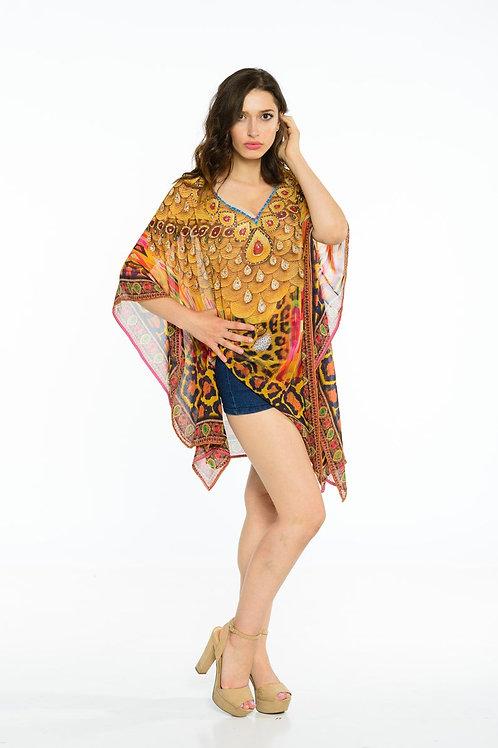 African Kaftan Dress, Sheer Gold Caftan, Women Loungewear, Loose Fit Dress