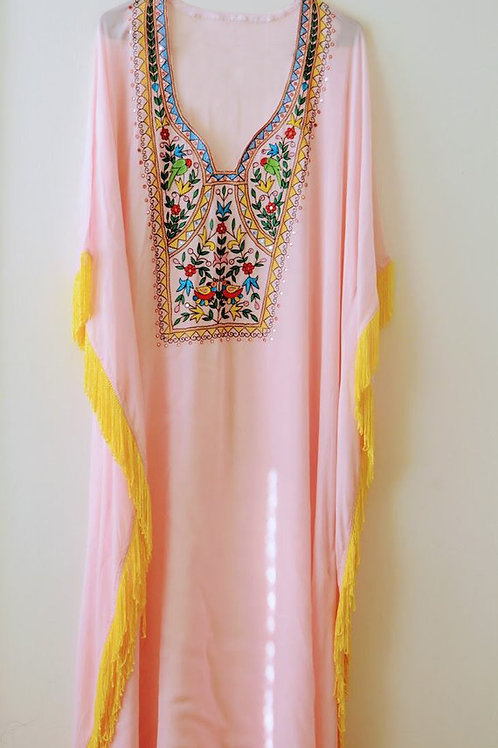 Kaftan Maxi Dress, Women Kaftan, Pink Kaftan, Long Kaftan, Abaya Dress, Caftan