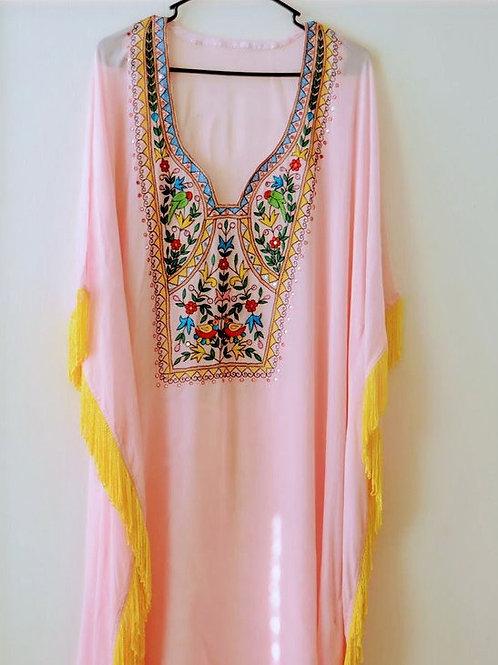 Kaftan Maxi Dress, Women Kaftan, Pink Kaftan, Long Kaftan, Abaya Dress, Caftan