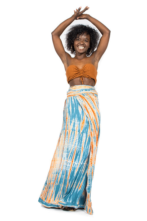 Wrap Around Skirt, Multicolor Tie Dyed Skirt, Bohemian Skirt, beach wrap