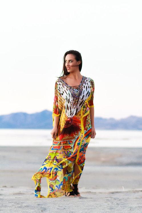 KAFTAN, maxi dresses, caftan, sheer, beach dress, long
