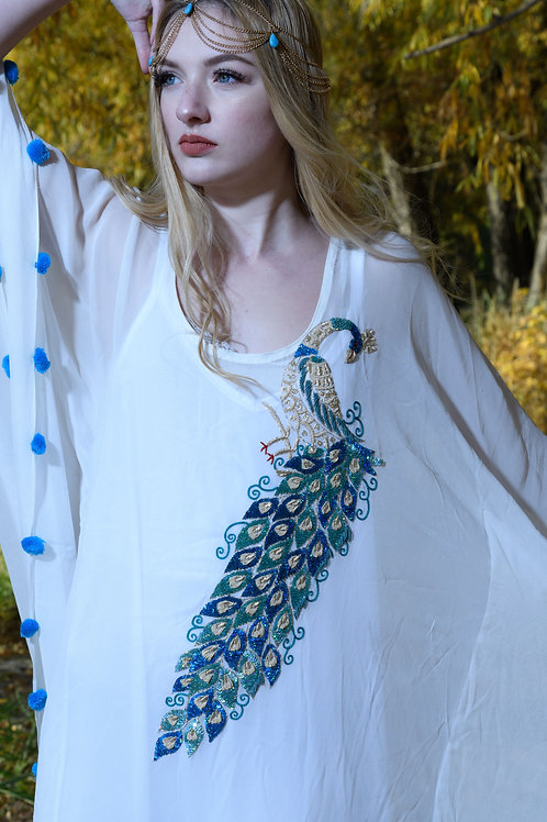 kaftan, white maternity dress, boho, caftan dress, beach kaftan, white d   Cance