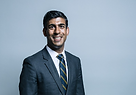 Chancellor Rishi Sunak in blue suit