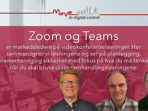 Sammenligning av Zoom og Teams